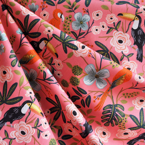 Menagerie Paradise Garden Rayon Cotton Lawn Coral SY