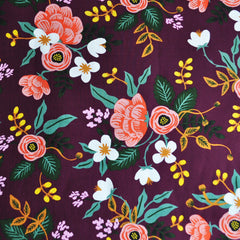 Menagerie Birch Floral Rayon Eggplant SY - Sold Out - Style Maker Fabrics