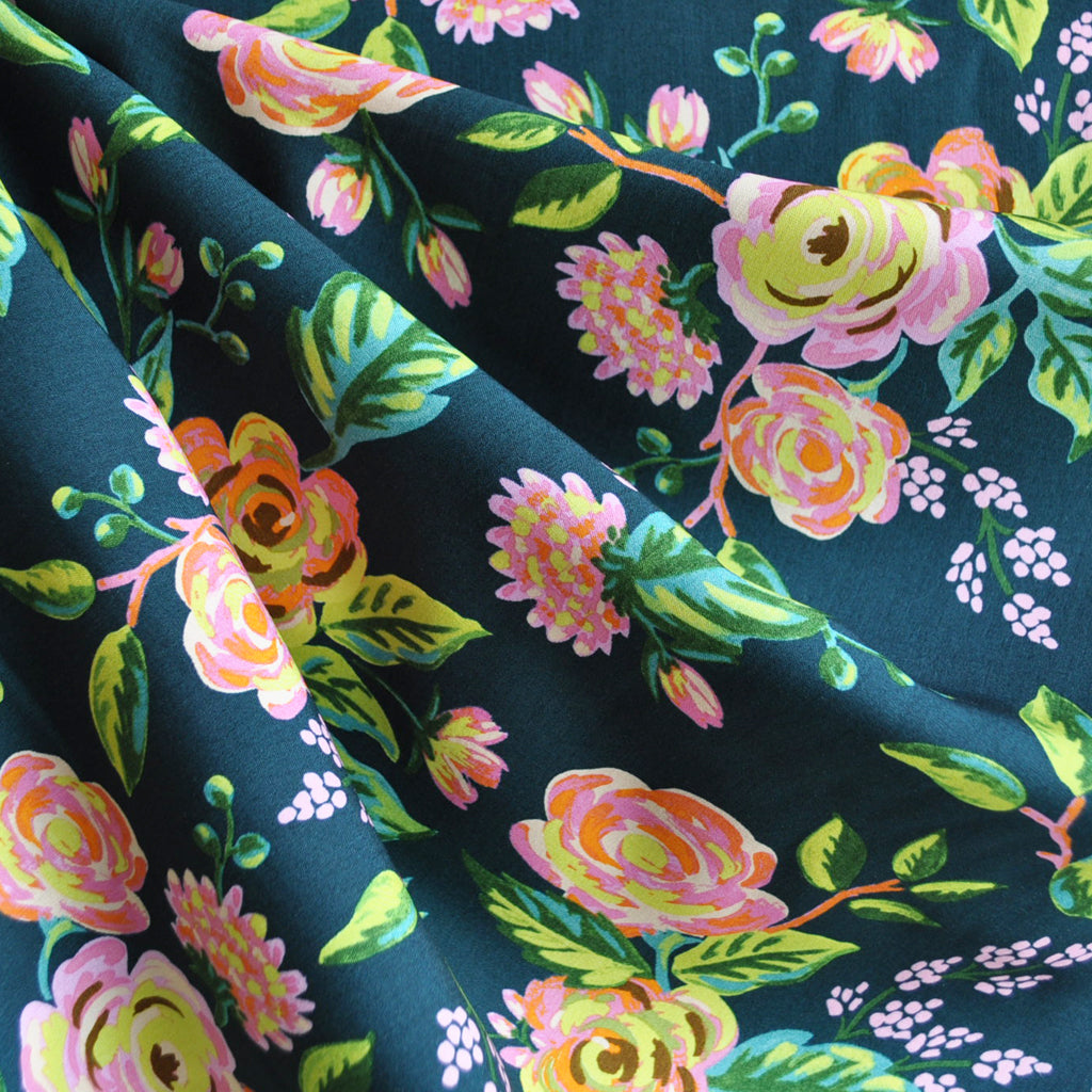 Menagerie Jardin de Paris Rayon Navy SY - Sold Out - Style Maker Fabrics