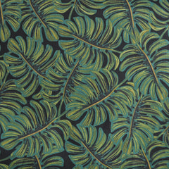 Menagerie Monstera Rayon Cotton Lawn Midnight SY - Sold Out - Style Maker Fabrics