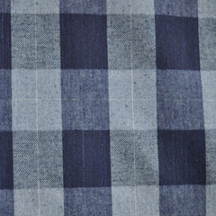 Buffalo Plaid Brushed Shirting Denim SY - Selvage Yard - Style Maker Fabrics