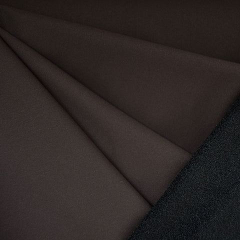 Soft Shell Fleece Coating Chocolate/Black