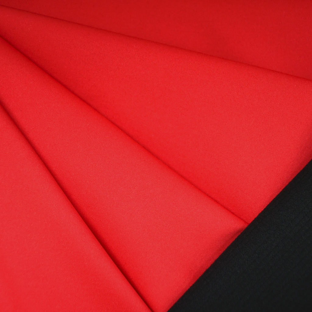 Soft Shell Fleece Coating Red/Black - Fabric - Style Maker Fabrics