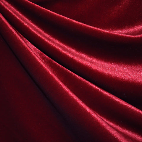 Stretch Velvet Solid Cardinal SY