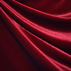 Stretch Velvet Solid Cardinal SY - Sold Out - Style Maker Fabrics