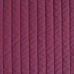 Plush Quilted Stripe Nylon Coating Cranberry SY - Sold Out - Style Maker Fabrics