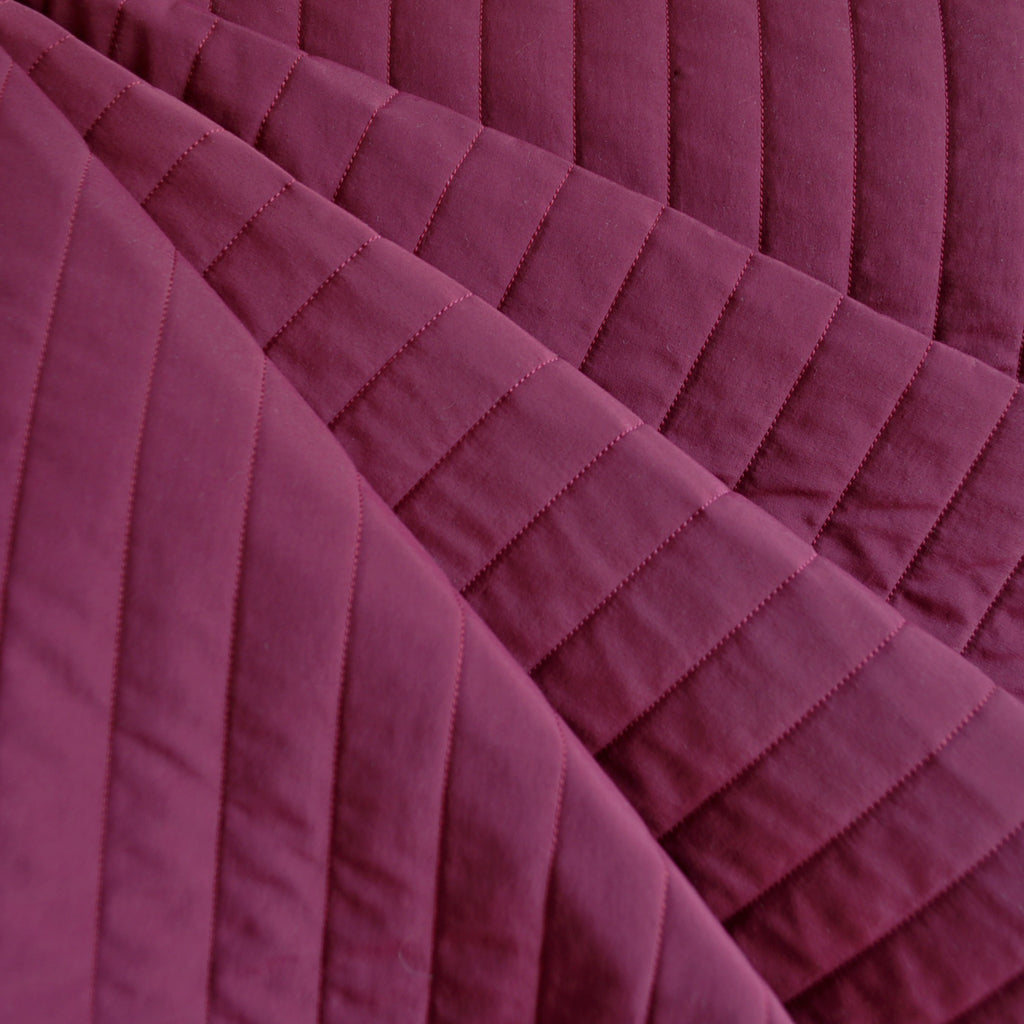 Double Face Quilted Supplex Nylon Cranberry - Fabric - Style Maker Fabrics