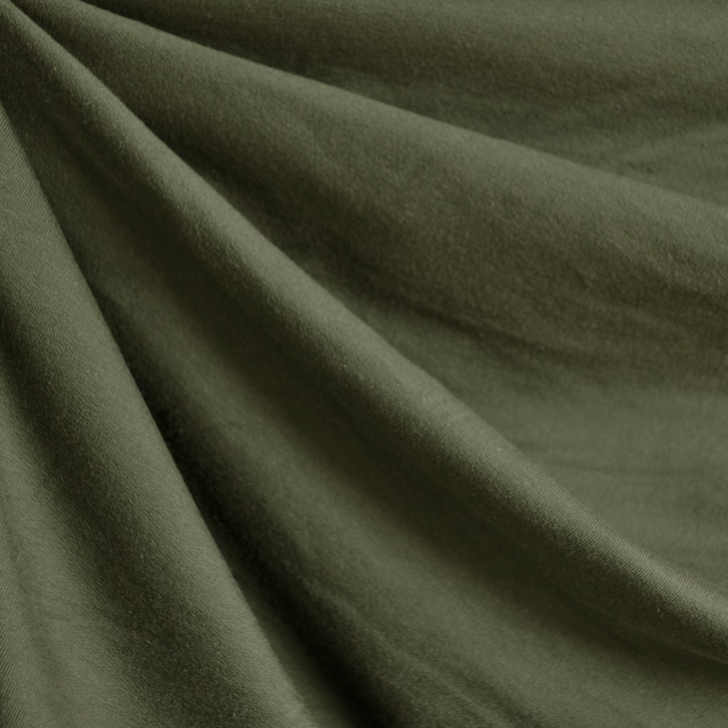 Jersey French Terry Solid Olive - Sold Out - Style Maker Fabrics
