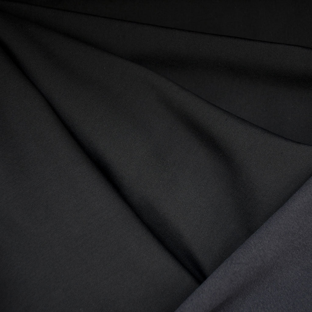 Soft Nylon Fleece Solid Black SY - Sold Out - Style Maker Fabrics
