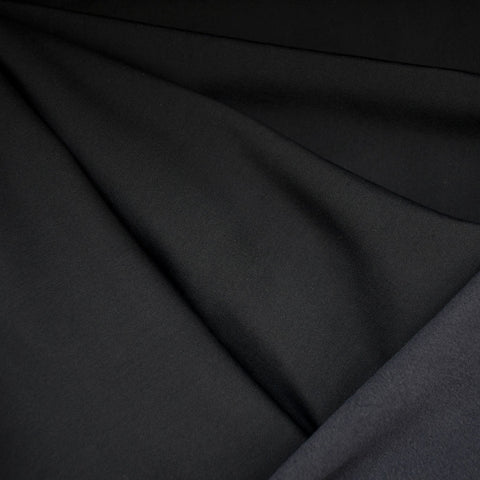 Soft Nylon Fleece Solid Black