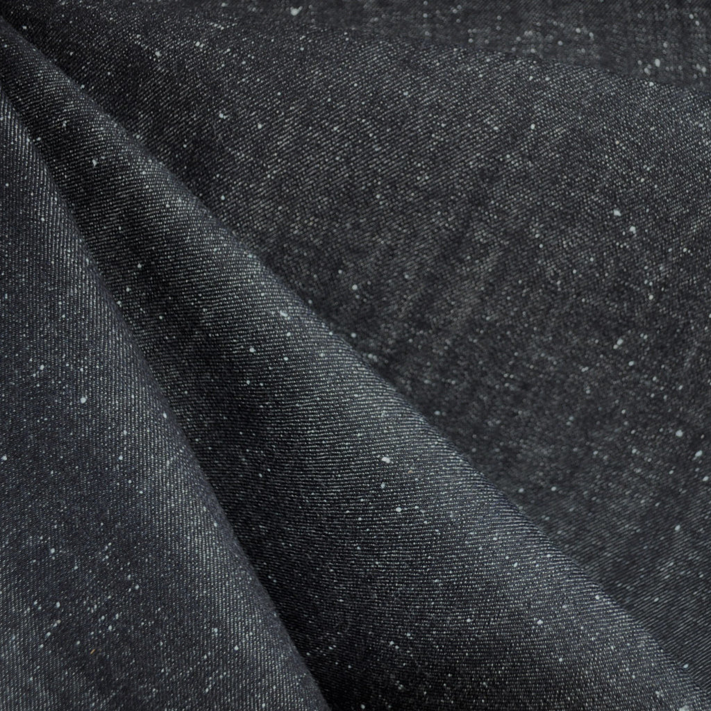 Speckled Denim Solid Black/Indigo SY - Sold Out - Style Maker Fabrics