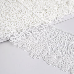 Scroll Paisley Venise Lace Trim Ivory 3 inch - Trim - Style Maker Fabrics