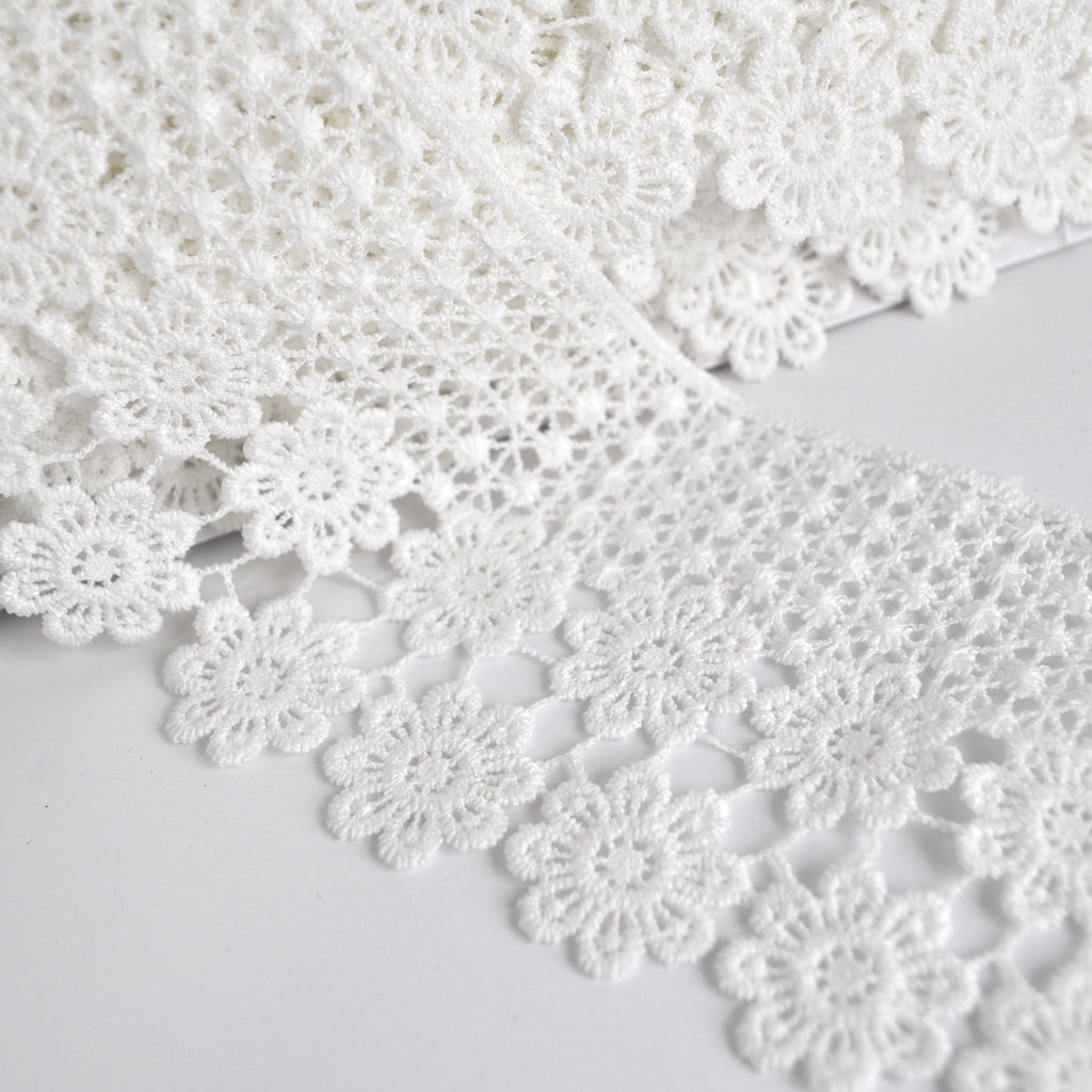 Daisy Venise Lace Trim Ivory 3 inch - Trim - Style Maker Fabrics
