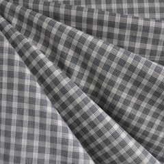 Shimmer Yarn Dyed Check Shirting Charcoal/Gold - Fabric - Style Maker Fabrics