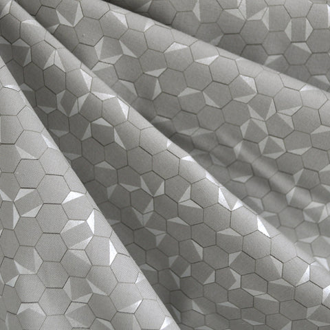 Shimmer Hexagon Cotton Grey/Silver