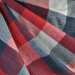 Mammoth Flannel Classic Plaid Red/Navy/Vanilla - Fabric - Style Maker Fabrics