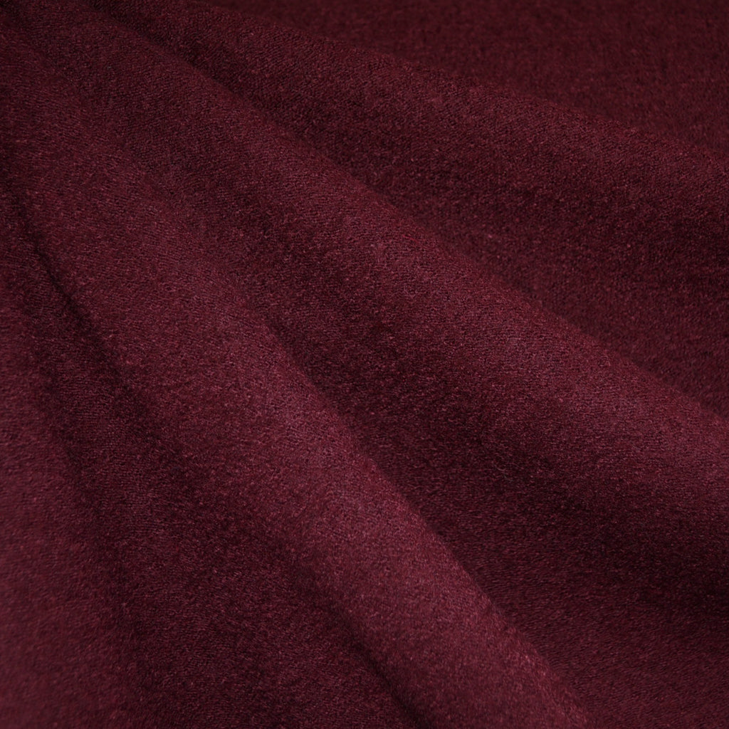 Boiled Wool Blend Coating Wine - Sold Out - Style Maker Fabrics