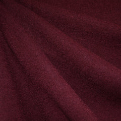 Boiled Wool Blend Coating Wine - Fabric - Style Maker Fabrics