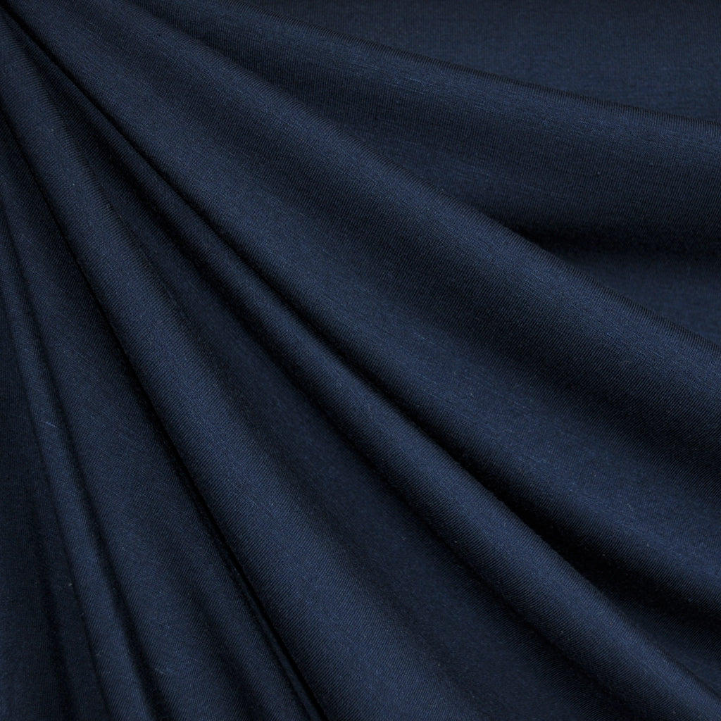 Bamboo Jersey Knit Solid Navy - Fabric - Style Maker Fabrics