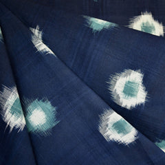 Medallion Double Ikat Shirting Navy/Teal SY - Sold Out - Style Maker Fabrics