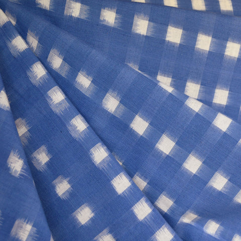 Square Double Ikat Shirting Periwinkle/Vanilla