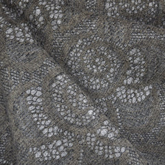 Floral Lace Overlay Sweater Knit Taupe/Grey - Fabric - Style Maker Fabrics