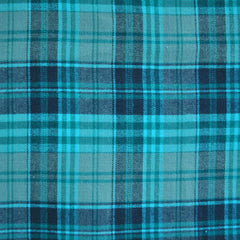 Plaid Flannel Shirting Teal/Turquoise SY - Sold Out - Style Maker Fabrics