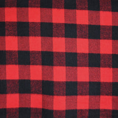 Check Plaid Flannel Shirting Black/Red - Sold Out - Style Maker Fabrics