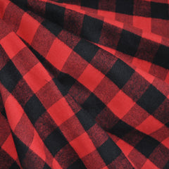 Check Plaid Flannel Shirting Black/Red SY - Sold Out - Style Maker Fabrics