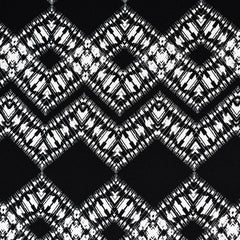Abstract Chevron Geometric Rayon Crepe Black/White - Fabric - Style Maker Fabrics