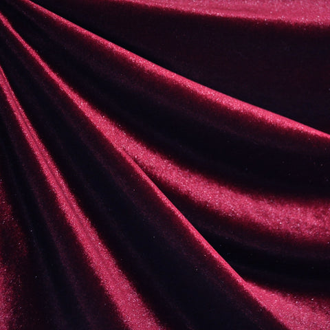 Stretch Velvet Solid Raspberry