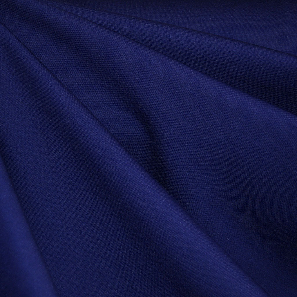 Classic Ponte Knit Solid Deep Blue - Fabric - Style Maker Fabrics