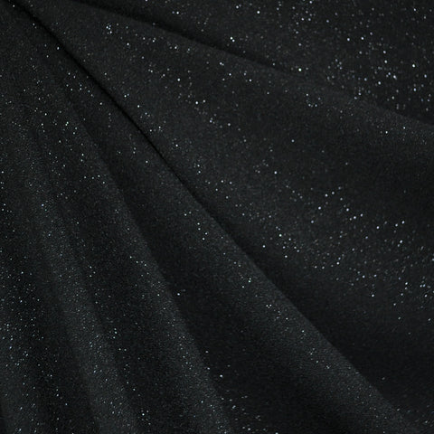 Sparkling Night Sky Rayon Crepe Black