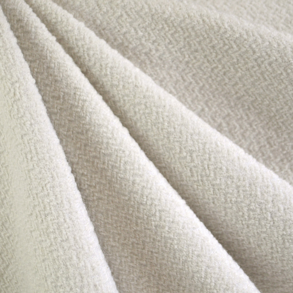 Textured Wool Blend Coating Vanilla SY - Sold Out - Style Maker Fabrics
