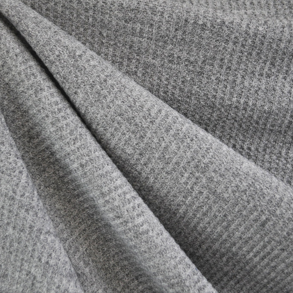 Plush Thermal Sweater Knit Light Grey - Fabric - Style Maker Fabrics