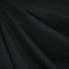 Plush Thermal Sweater Knit Black - Fabric - Style Maker Fabrics