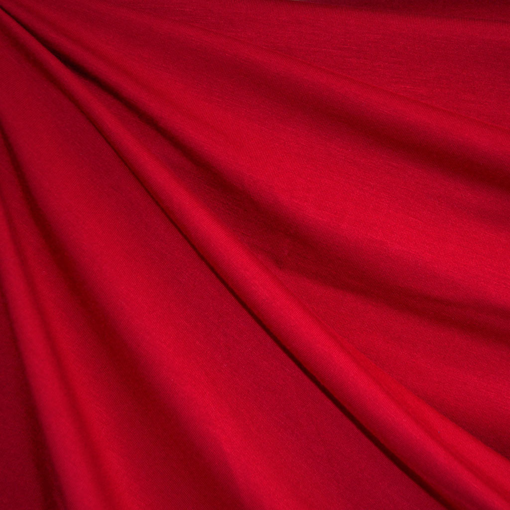 Bamboo Jersey Knit Solid Red - Fabric - Style Maker Fabrics