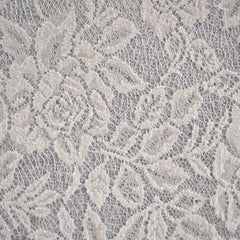 Vine Floral Lace Overlay Sweater Knit Cream/Grey SY - Sold Out - Style Maker Fabrics
