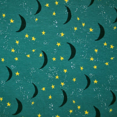 Night Sky Jersey Knit Jade - Fabric - Style Maker Fabrics
