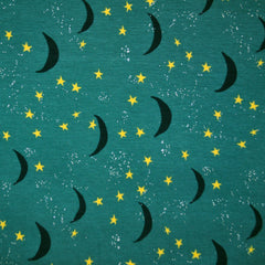 Night Sky Jersey Knit Jade SY - Selvage Yard - Style Maker Fabrics