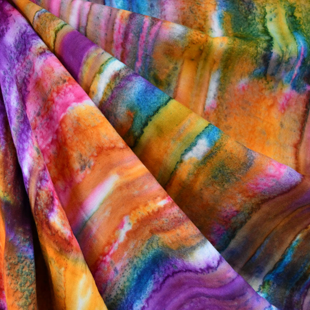 Hand Dyed Rayon Challis Sunrise SY - Sold Out - Style Maker Fabrics