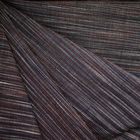 Variegated Stripe Shirting Earth