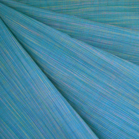 Variegated Stripe Shirting Turquoise SY