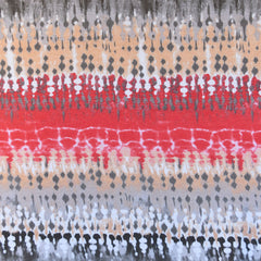 Abstract Watercolor Stripe Jersey Knit Coral/Taupe - Sold Out - Style Maker Fabrics