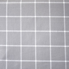 Windowpane Plaid Brushed Shirting Grey SY - Sold Out - Style Maker Fabrics