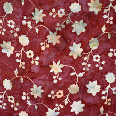 Floral Vine Rayon Batik Cranberry - Sold Out - Style Maker Fabrics