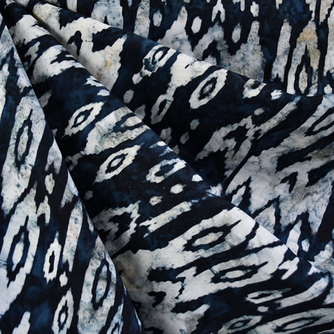 Abstract Ikat Rayon Batik Navy