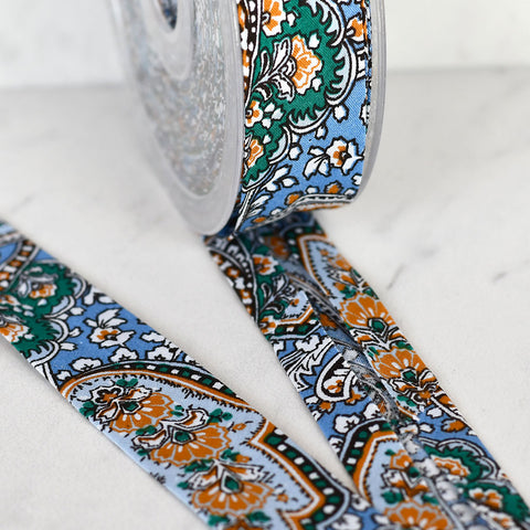 Large Paisley Printed Bias Tape