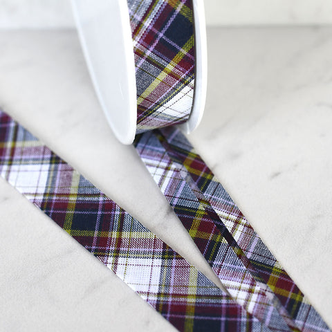 Yarn Dyed Tartan Plaid Bias Tape
