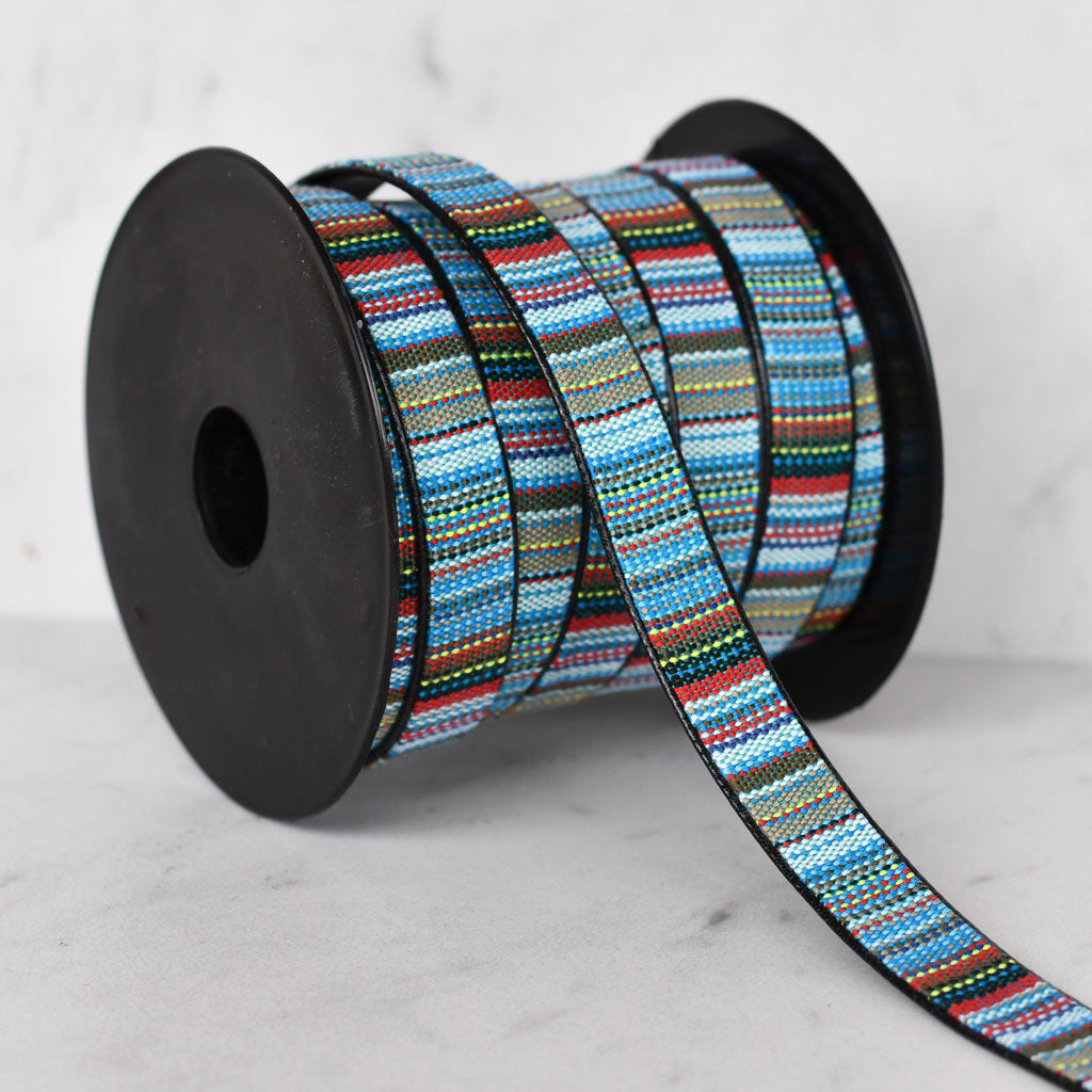 Southwest Stripe Faux Leather Strapping 1/2 inch - Trim - Style Maker Fabrics